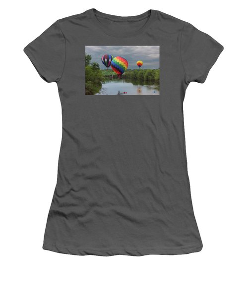 Flying Over The Androscoggin Women's T-Shirt (Athletic Fit)