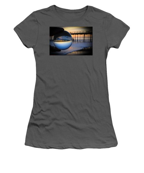 Women's T-Shirt (Athletic Fit) featuring the photograph Foamy Ball by Lora Lee Chapman
