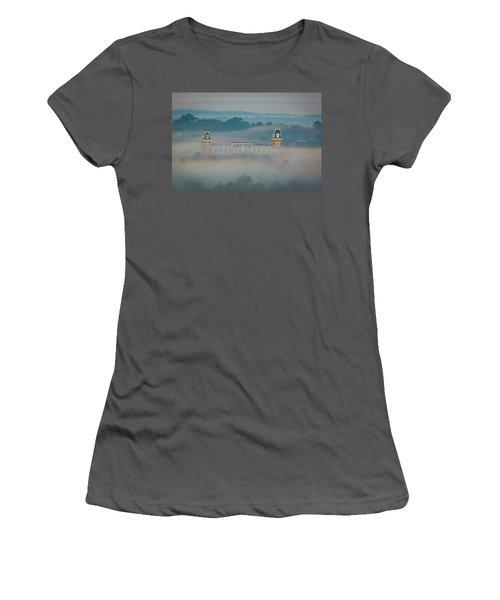 Fog At Old Main Women's T-Shirt (Junior Cut) by Damon Shaw