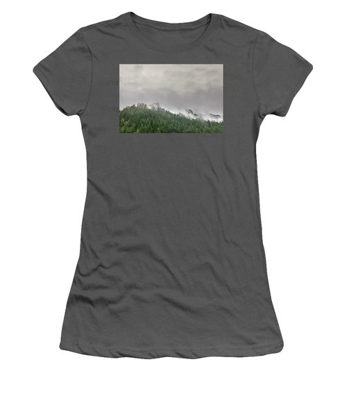 Fog Rolling Over Columbia River Gorge Women's T-Shirt (Athletic Fit)