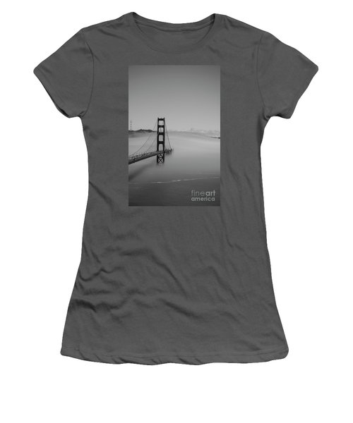 Women's T-Shirt (Junior Cut) featuring the photograph Fogging The Bridge by David Bearden