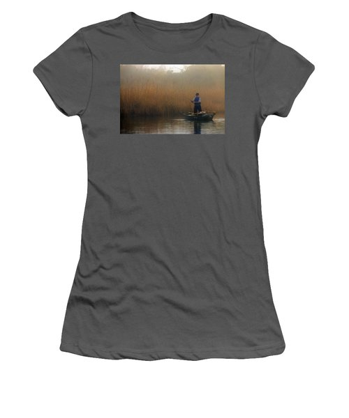 Foggy Fishing Women's T-Shirt (Athletic Fit)