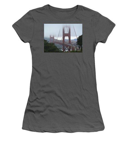 Foggy Golden Gate Women's T-Shirt (Junior Cut) by Margaret Brooks