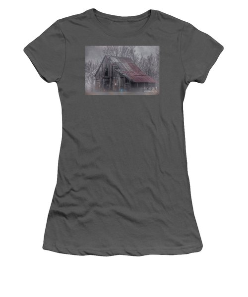 Foggy Morning Backroads Women's T-Shirt (Athletic Fit)