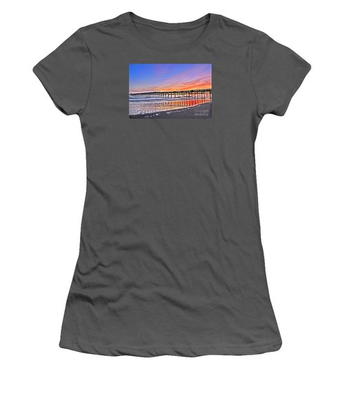 Foggy Sunset Women's T-Shirt (Athletic Fit)