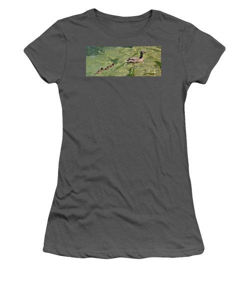 Following Mom Women's T-Shirt (Junior Cut) by Pamela Blizzard