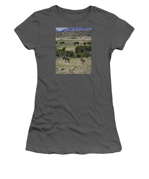 Following Momma Women's T-Shirt (Junior Cut) by Elizabeth Eldridge