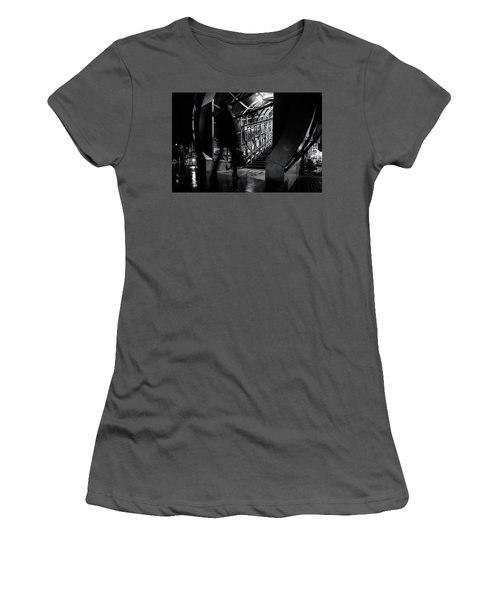 Women's T-Shirt (Athletic Fit) featuring the photograph Footbridge Blur by John Williams