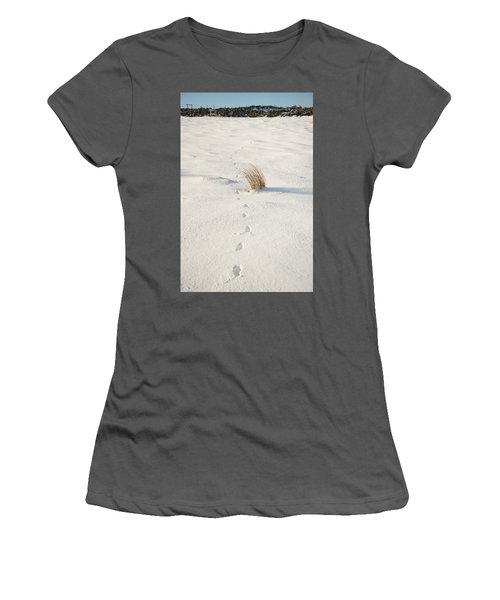 Footprints In The Snow II Women's T-Shirt (Athletic Fit)