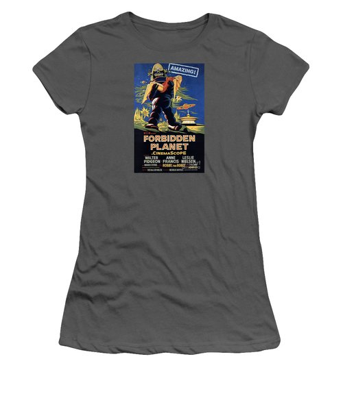 Forbidden Planet Amazing Poster Women's T-Shirt (Athletic Fit)