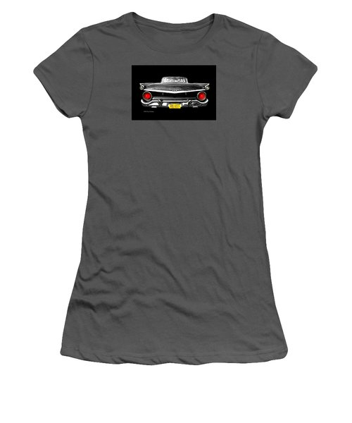 Ford Fairlane 500 Women's T-Shirt (Junior Cut) by Diana Angstadt