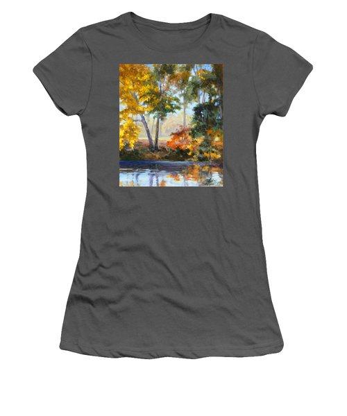 Forest Park - Autumn Reflections Women's T-Shirt (Junior Cut) by Irek Szelag