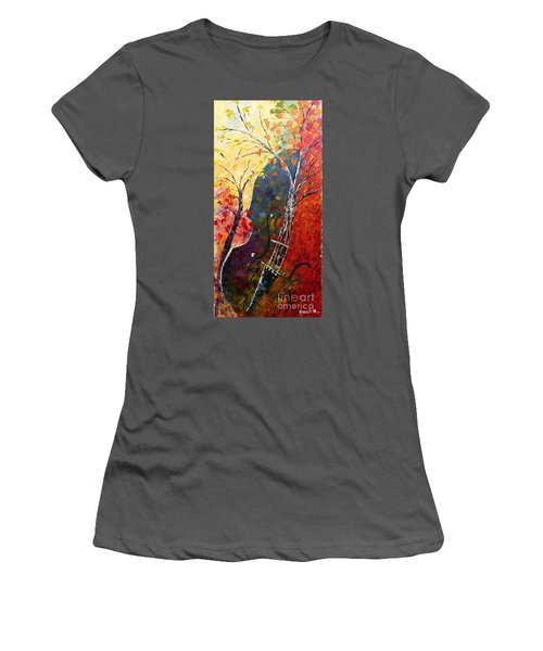 Forest Symphony Women's T-Shirt (Athletic Fit)