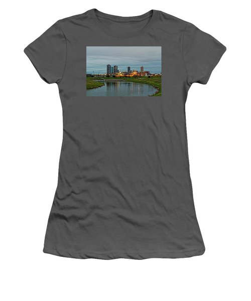 Fort Worth Color Women's T-Shirt (Junior Cut) by Jonathan Davison
