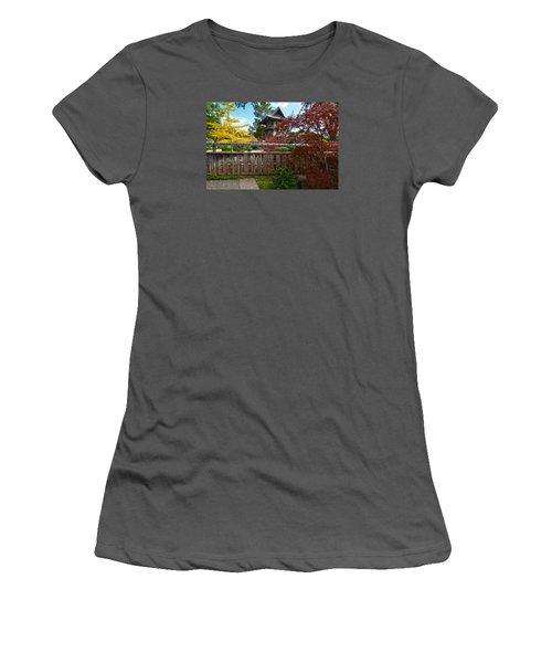 Women's T-Shirt (Junior Cut) featuring the photograph Fort Worth Japanese Gardens 2771a by Ricardo J Ruiz de Porras