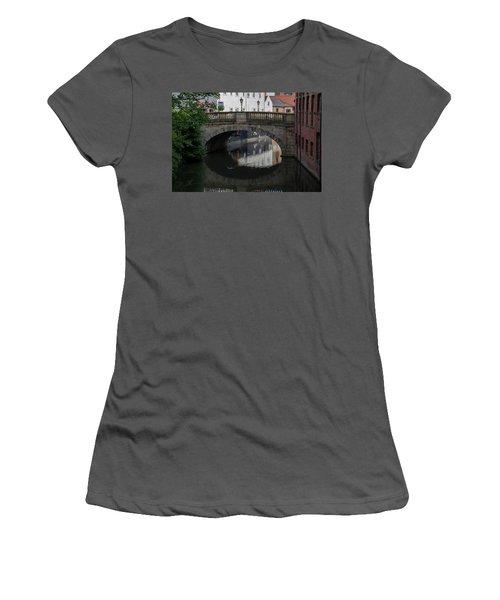 Women's T-Shirt (Athletic Fit) featuring the photograph Foss Bridge - York by Scott Lyons