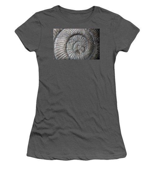 Fossil Spiral  Women's T-Shirt (Junior Cut) by LeeAnn McLaneGoetz McLaneGoetzStudioLLCcom