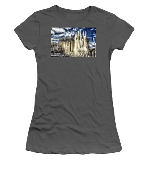 Fountain Of Love Women's T-Shirt (Athletic Fit)
