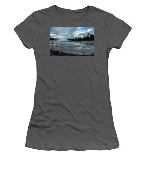 Fountain Paint Pot Area Women's T-Shirt (Junior Cut) by Cindy Murphy - NightVisions