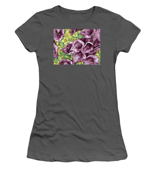 Foxgloves Women's T-Shirt (Athletic Fit)