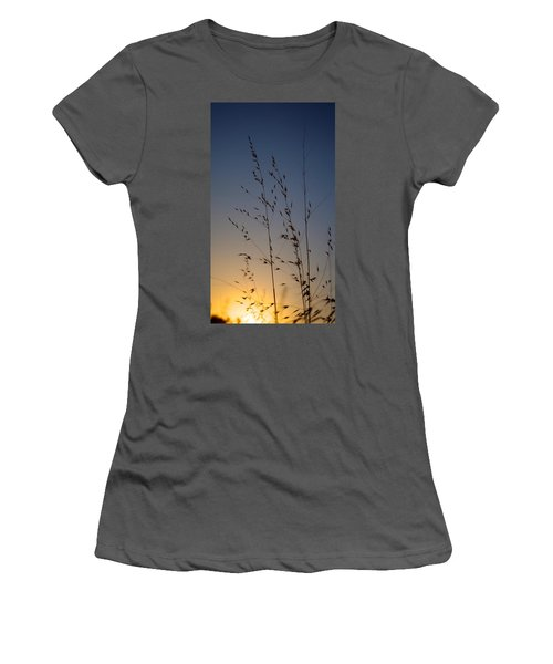 Foxtail Sunset Women's T-Shirt (Athletic Fit)