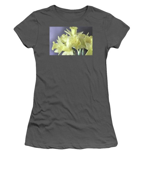 Women's T-Shirt (Junior Cut) featuring the photograph Fragile Daffodils by Jacqi Elmslie