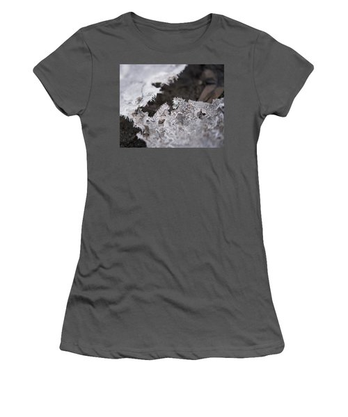 Fragmented Ice Women's T-Shirt (Athletic Fit)