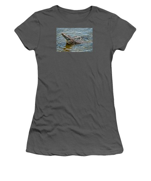 Women's T-Shirt (Junior Cut) featuring the photograph Frisky In Florida by Christopher Holmes