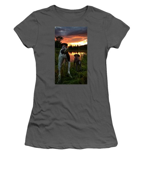Frog Hunters 2 Women's T-Shirt (Athletic Fit)