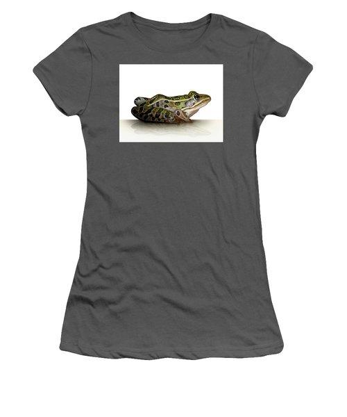 Frog Women's T-Shirt (Junior Cut) by James Larkin