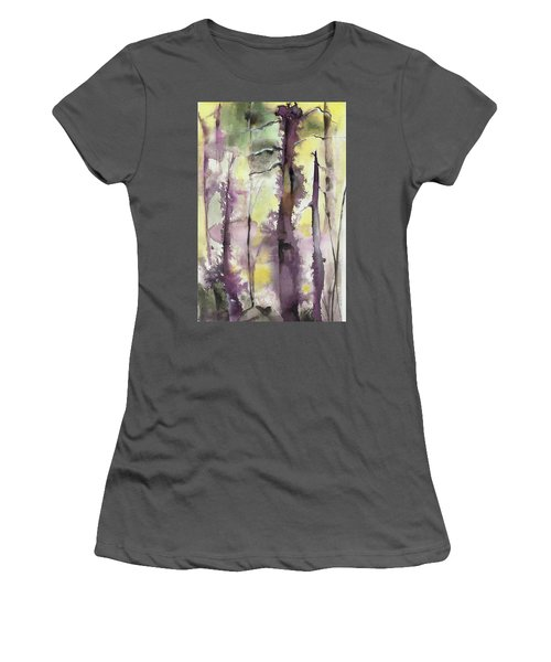 Women's T-Shirt (Junior Cut) featuring the painting From The Fire by Nadine Dennis