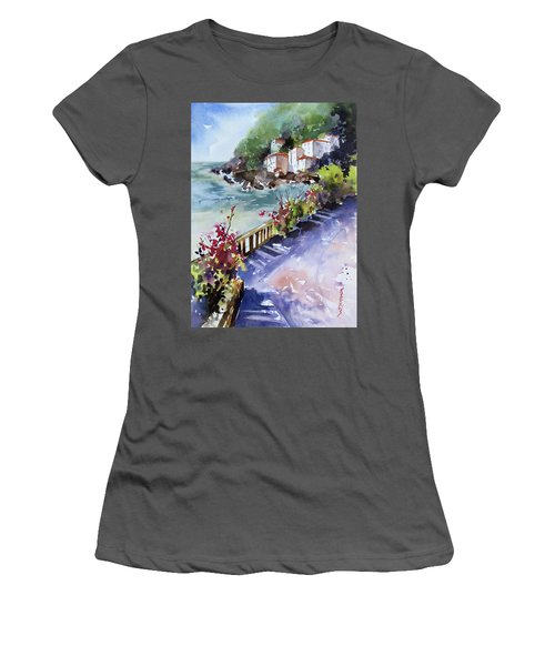 From The Walkway Women's T-Shirt (Junior Cut) by Rae Andrews