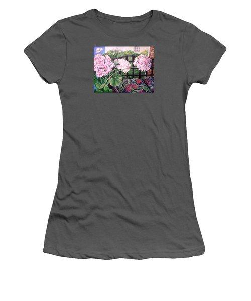 Front Porch Flowers Women's T-Shirt (Athletic Fit)
