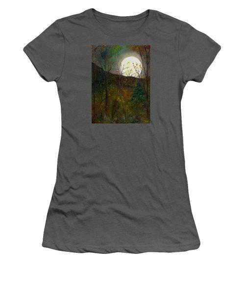 Frost Moon Women's T-Shirt (Junior Cut) by FT McKinstry
