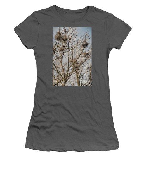 Women's T-Shirt (Junior Cut) featuring the photograph Full House by David Bearden