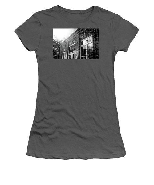 Full Moon Cafe Women's T-Shirt (Junior Cut) by David Sutton