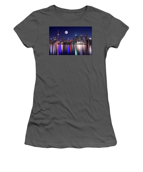 Full Moon In Toronto Women's T-Shirt (Athletic Fit)
