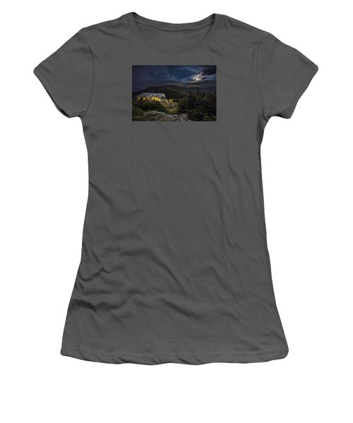Full Moon Over Greenleaf Hut Women's T-Shirt (Athletic Fit)