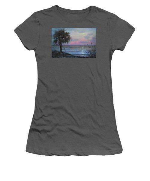 Full Moon Rising Women's T-Shirt (Junior Cut) by Blue Sky