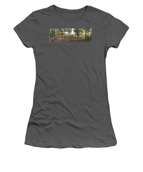 Full Panoramic View From The Summit Of Brown's Mountain Trail Women's T-Shirt (Athletic Fit)