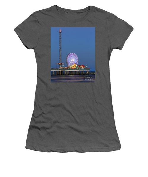 Galveston Pier  Women's T-Shirt (Athletic Fit)