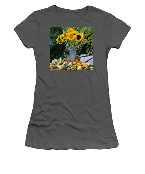 Garden Bounty In Yellow And Green Women's T-Shirt (Athletic Fit)
