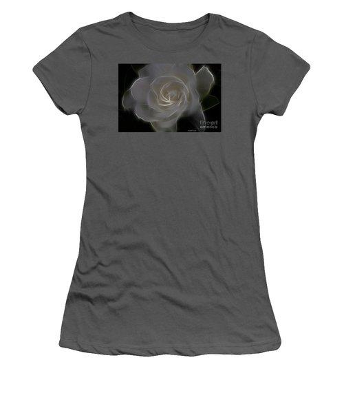 Gardenia Blossom Women's T-Shirt (Junior Cut) by Deborah Benoit