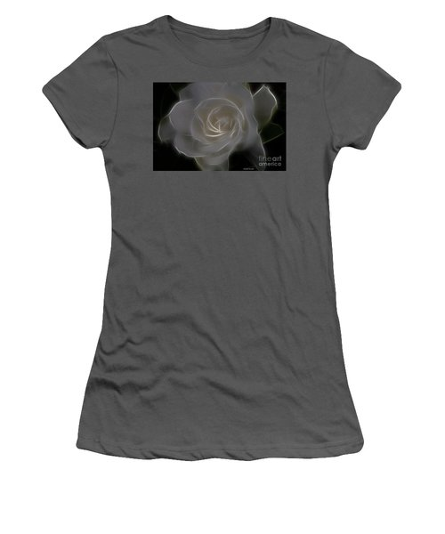 Gardenia Blossom Women's T-Shirt (Athletic Fit)