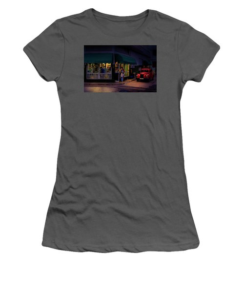Women's T-Shirt (Athletic Fit) featuring the photograph Gasolinera Linea Y Calle E Havana Cuba by Charles Harden
