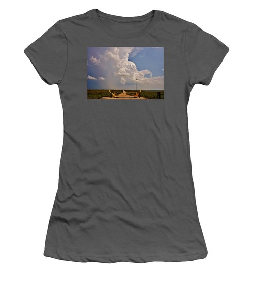 Women's T-Shirt (Athletic Fit) featuring the photograph Gates Of Hail by Ed Sweeney