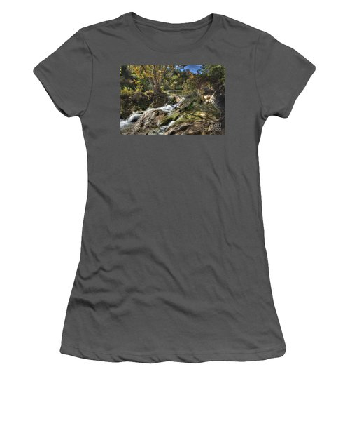 Women's T-Shirt (Junior Cut) featuring the photograph Gentle Mountain Stream by Tamyra Ayles