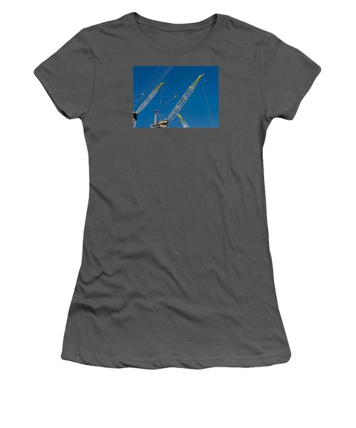 Women's T-Shirt (Junior Cut) featuring the photograph Geometry Of The Carnes by Gary Slawsky
