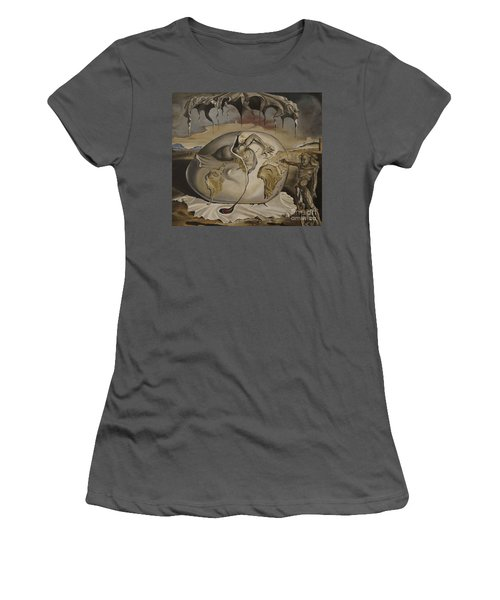 Dali's Geopolitical Child Women's T-Shirt (Athletic Fit)