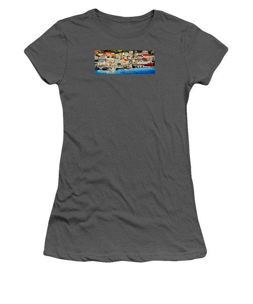 Georgetown Harbor, Grenada Women's T-Shirt (Athletic Fit)
